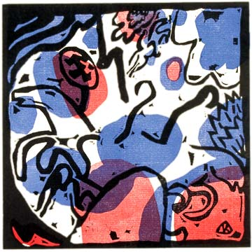 Kandinsky, Three Riders in Red, Blue and Black, synesthesia